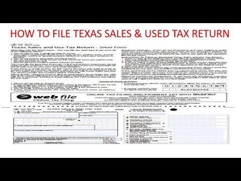 How to file Texas Sales and Use Tax Return via website - YouTube