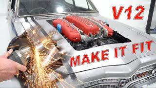 How to fit a V12 Ferrari engine into a custom Holden LC GTR Torana