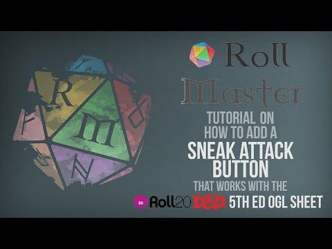 Hackmastering Roll20 #5 - Attack and Defense Macros by