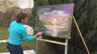 Painting from the scratch first video shoot Nazmi Heta