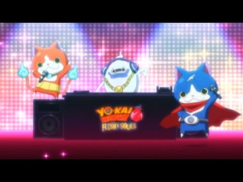 Yo-Kai Watch 2 Fleshy Souls - Opening Theme Song! [Direct Nintendo 3DS Capture]
