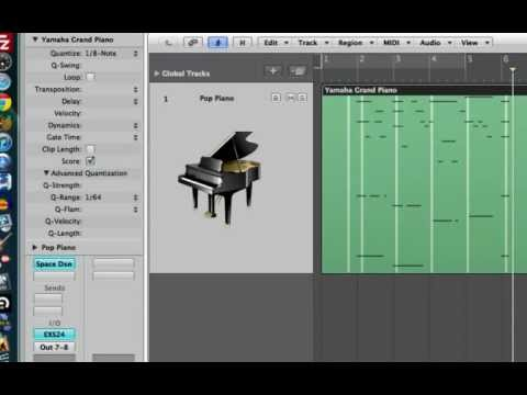 Quantization in Logic Pro 9 - Part 2: Region Based Quantization