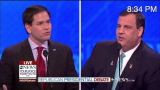 Marco Rubio Short-Circuits, Repeats Same Scripted Line Four Times During GOP Debate