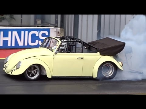 2015 Cal Look Drag Day - VW Cabrio Turbo Beetle - 8.8 @ 140mph