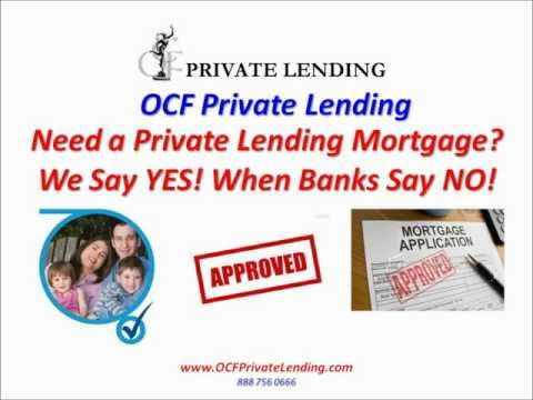Private Lending Mortgages - We Say Yes! When Banks Say No!