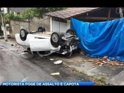 Homem morre em acidente de carro após assalto no Rio de Janeiro
