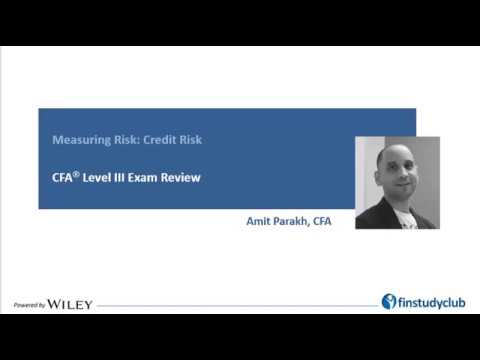 CFA Level III Measuring Credit Risk