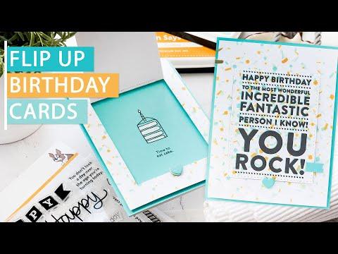 Flip Up Birthday Cards for Guys - Easy Handmade Cards