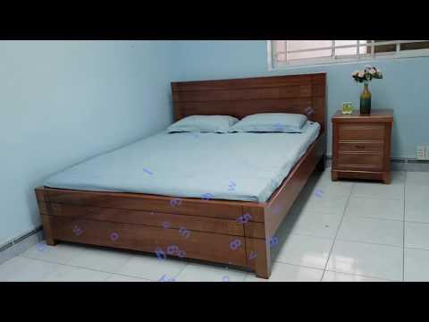 Giường ngủ gỗ tự nhiên xoan đào lào
