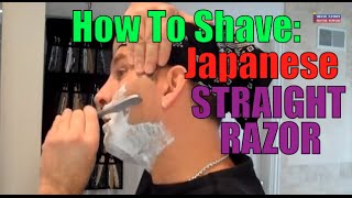FEATHER JAPANESE STYLE RG RAZOR: IS THIS HOW REAL MEN SHAVE? Non-Folding Straight Style