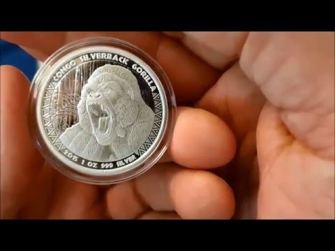 Silver 1 oz Congo Gorilla