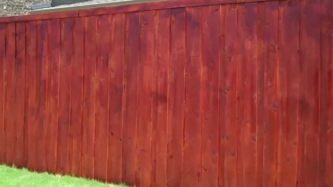 Fence Stain Diy