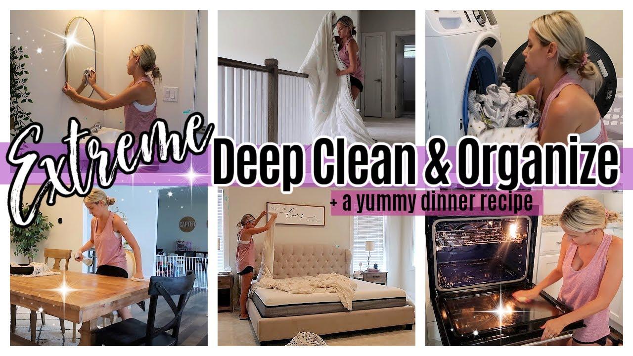 *NEW* EXTREME DEEP CLEAN AND ORGANIZE + EASY HEALTHY DINNER TIFFANI BEASTON HOMEMAKING MOTIVATION