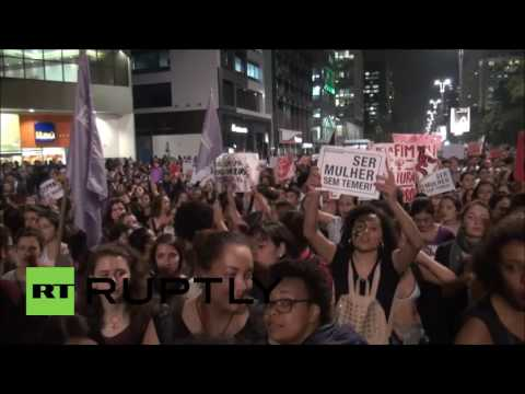 Brazil: Thousands march in Sao Paulo as anger grows over Rio's gang-rape case