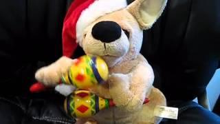 Dan Dee Animated Plush Stuffed Dog Sings Feliz Navidad Shakes Maracas Christmas