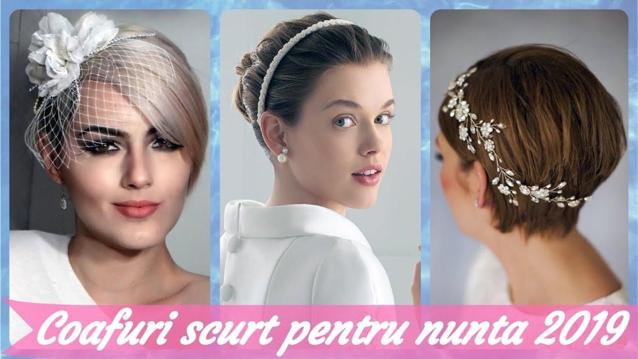 Top 20 De Coafuri Din Par Scurt Pentru Nunta 2019 Youtube