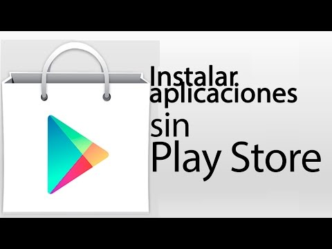 como instalar una aplicacion sin play store, se me borro play store