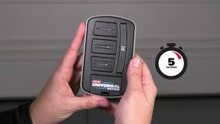 Universal Wireless Garage Door Opener Wall Console by Genie programming & installation