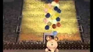 Прощай,олимпийский Мишка! 1980  Песня на церемонии закрытии Олимпиады 80                          На трибунах становится тише     А Мишка улетел     flv(, 2012-05-30T06:14:21.000Z)
