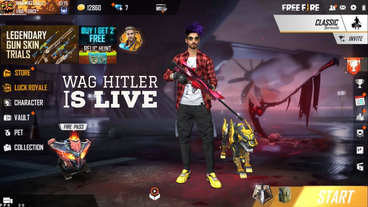 Garena Free Fire Live Stream Wag Hitler Online Gameplay Stayhome Staysafe Youtube