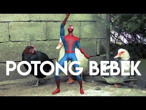 Spiderman Batman Goyang Itik - Lagu Anak Indonesia Balita Tk Sd Potong Bebek Angsa