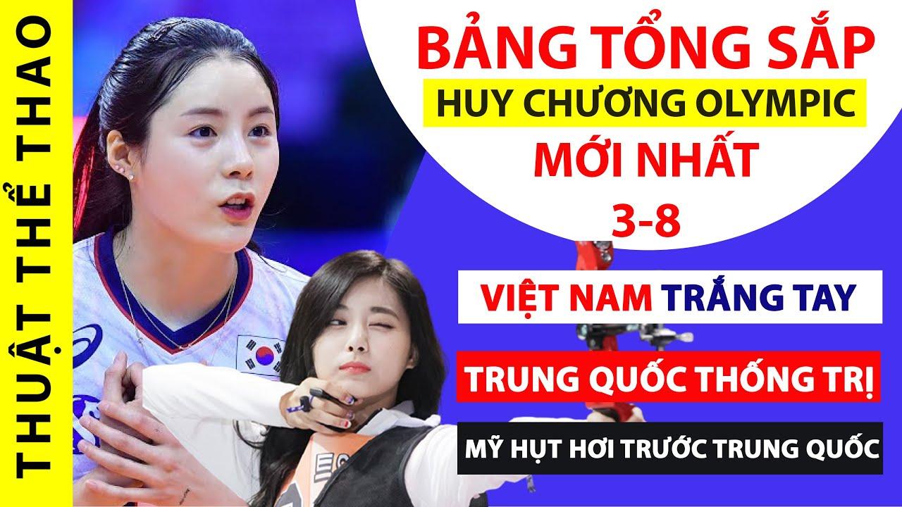 Bảng tổng sắp huy chương Olympic Tokyo 2020   Việt Nam TRẮNG TAY, Trung Quốc bỏ xa Mỹ