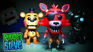 Five Nights at Freddy's FnaF Funko Pop Exclusives pt 2.Toy Freddy, Phantom & Glow in Dark Foxy