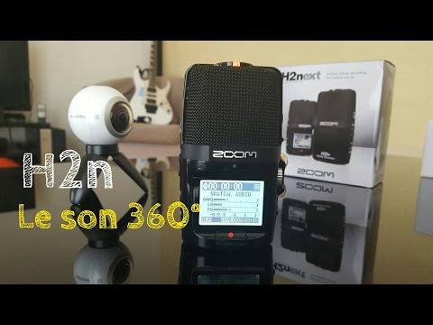 Son spatial audio vr pour vidéo 360° - Zoom h2n
