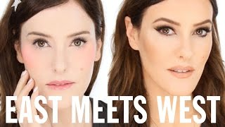 East Meets West - Makeup Trend Transformation Tutorial