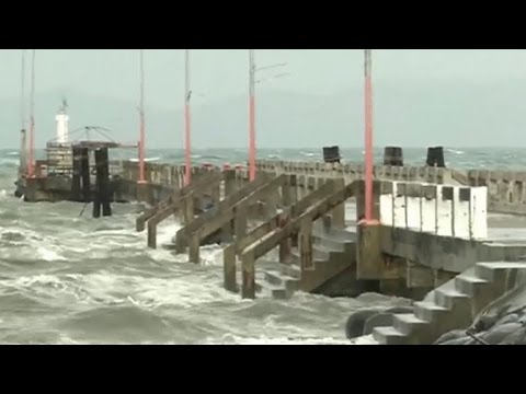Fierce wind and rain hitting central Philippines