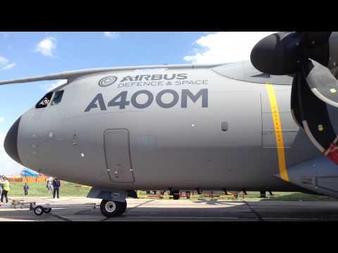 Airbus A-400M pushing on KADEX 2014 defense expo. Astana, Kazakhstan