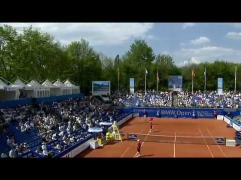 ATP 2012 Munich R2 Tsonga vs Haas ENG