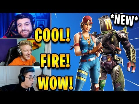"""Streamers React to *NEW* """"Sparkplug"""" & """"Kitbash"""" Skins! 