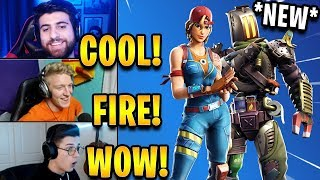 "Streamers React to *NEW* ""Sparkplug"" & ""Kitbash"" Skins! 