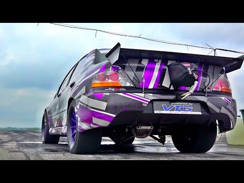 1000 HP Mitsubishi Evo 8 Turbo Sound & Acceleration