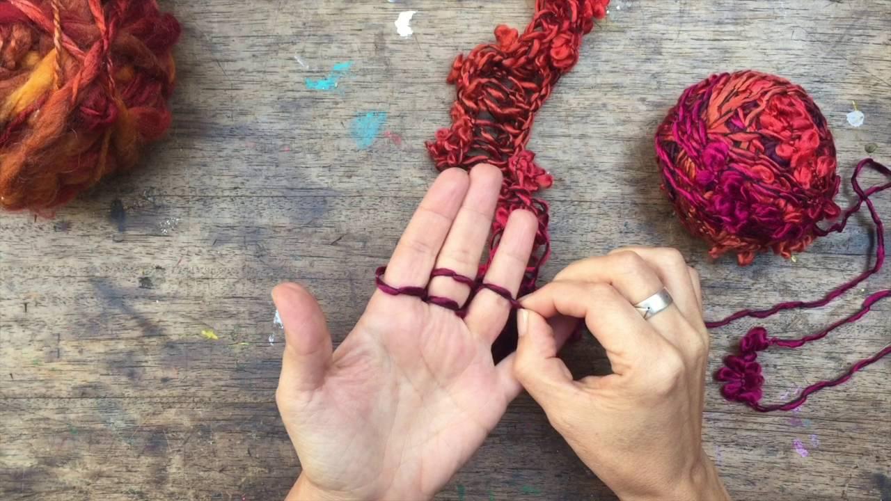 Resultado de imagen para tejidos con los dedos