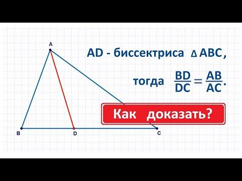 Свойство биссектрисы треугольника с доказательством