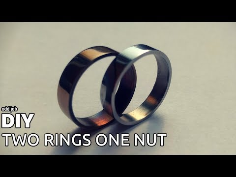 DIY Two Rings From One Nut