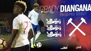 GRADY DIANGANA U20 DEBUT | ENGLAND 2-0 GERMANY