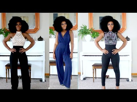 Fashion Nova Jumpsuits Try On Special Occasion Looks