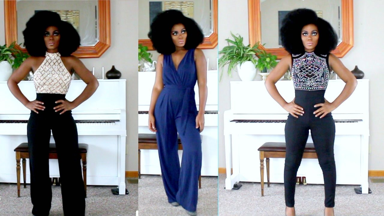 ba3cad2f676 Fashion Nova Jumpsuits Try On Special Occasion Looks - YouTube