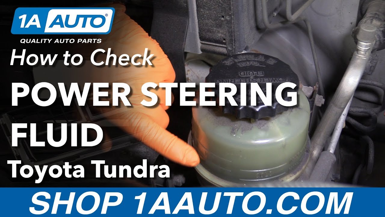 Check Power Steering Fluid >> How To Check Power Steering Fluid On A 00 06 Toyota Tundra