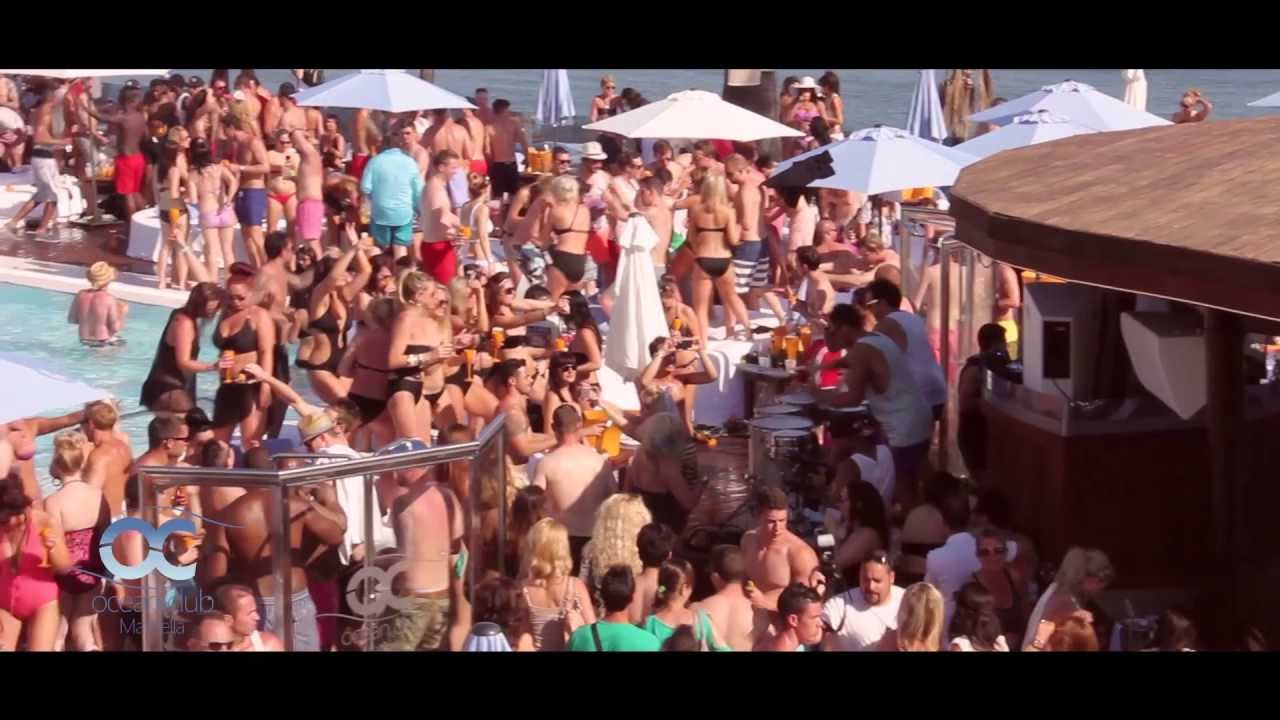 dff1d20bae Ocean Club Marbella´s 1st Champagne Spray Party of 2013 - YouTube