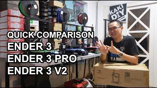 Quick Comparison - Creality Ender 3 vs Ender 3 Pro vs Ender 3 V2