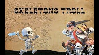 New skeletons troll Clash Royale + Royale ghost , battle ram deck tips I جنون رويال