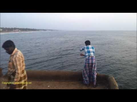 Fishing At Valiathura Pier