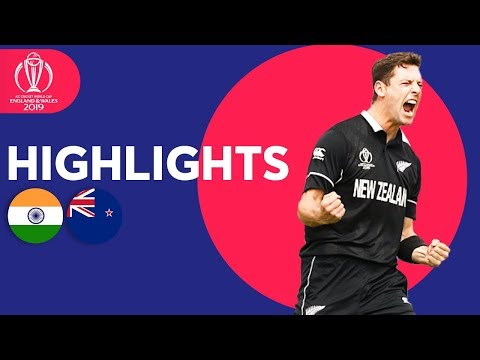 India vs New Zealand - Match Highlights | ICC Cricket World