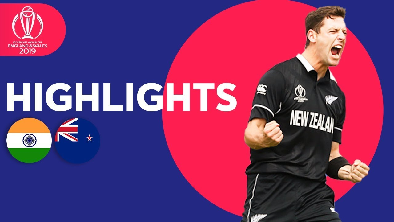India vs New Zealand - Match Highlights | ICC Cricket World Cup 2019