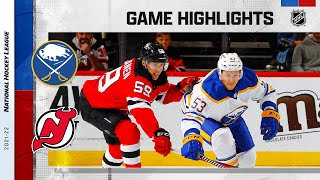 Sabres @ Devils 10/23/21 | NHL Highlights