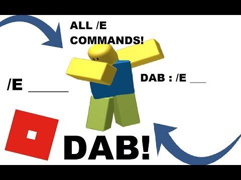 ALL /E COMMANDS IN ROBLOX!